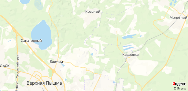 Красногвардейский на карте