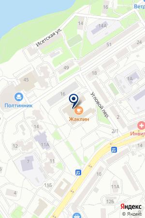 В Движении на карте Екатеринбурга