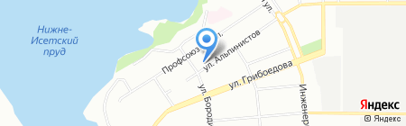 Олес на карте Екатеринбурга