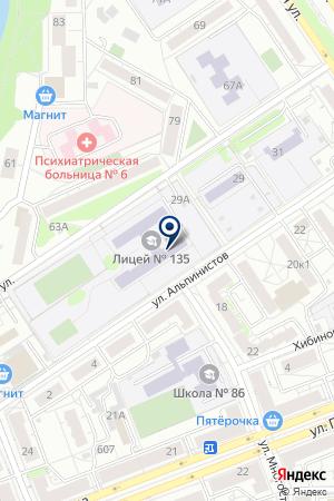 №135 на карте Екатеринбурга