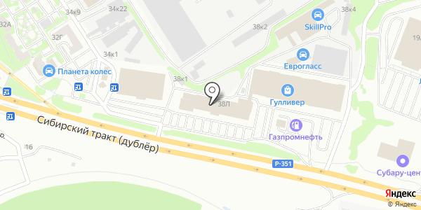 АЛТ-СЕРВИСОТЕЛЬ. Схема проезда в Екатеринбурге