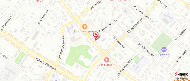 Карта расположения пункта доставки Озерск Победы в городе Озерск