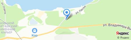 Пески на карте Екатеринбурга