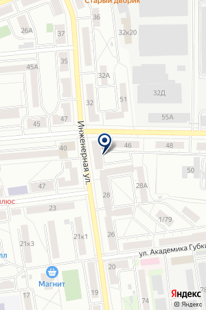 Валета на карте Екатеринбурга