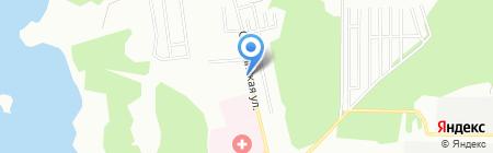 Автостоянка на Южногорской на карте Екатеринбурга