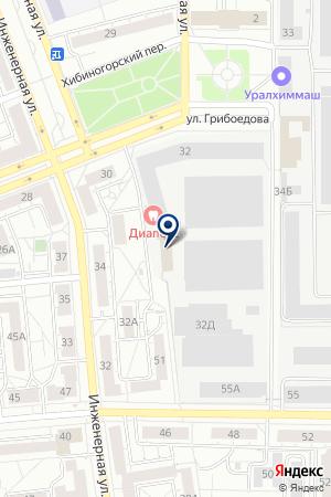 УРАЛЬСКОЕ ПИЩЕВОЕ МАШИНОСТРОЕНИЕ на карте Екатеринбурга