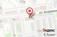Схема проезда до компании Очажок в Екатеринбурге