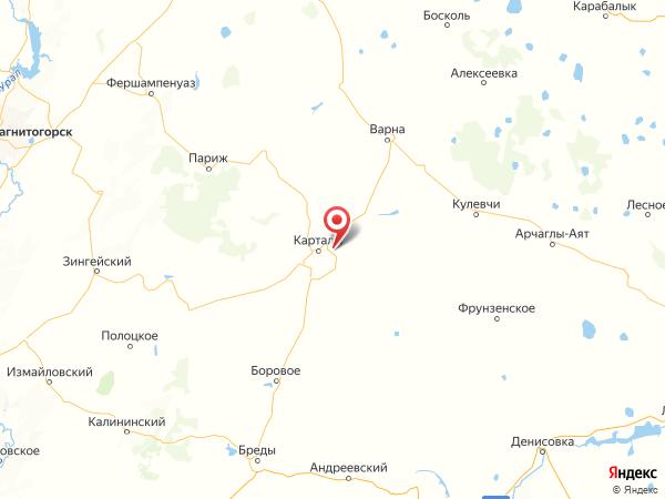 посёлок Центральный на карте