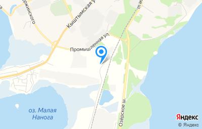 Местоположение на карте пункта техосмотра по адресу Челябинская обл, г Озерск, ул Красноармейская, д 13 стр 1
