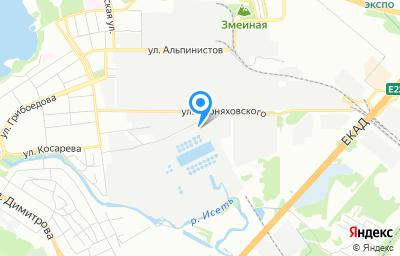 Местоположение на карте пункта техосмотра по адресу г Екатеринбург, ул Косарева, д 26А