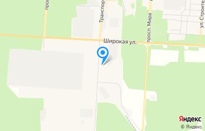 Местоположение на карте пункта техосмотра по адресу Челябинская обл, г Снежинск, ул Транспортная, д 36