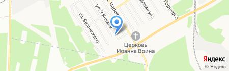 Белмет на карте Берёзовского