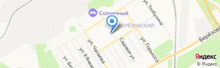 Магазин посуды на карте Берёзовского