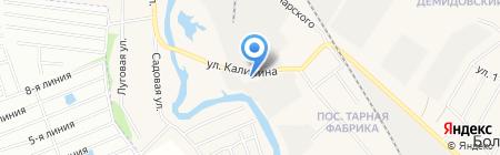 Автокомплекс на карте Большого Истока
