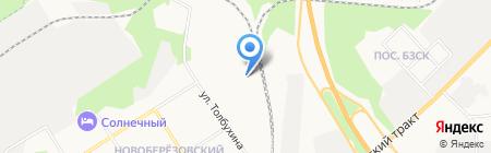 Березки на карте Берёзовского