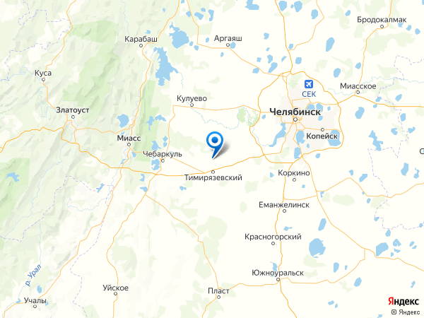 посёлок Бишкиль на карте