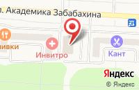 Схема проезда до компании Атриум в Снежинске