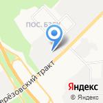Автобан-Березовский на карте Берёзовского