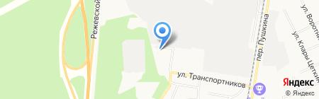 Грузовой автосервис на карте Берёзовского