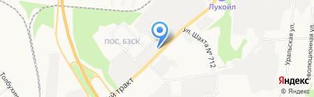 Две-Двери на карте Берёзовского