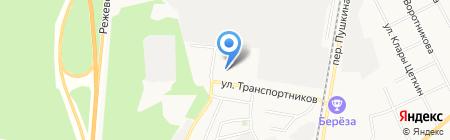 CAReta на карте Берёзовского