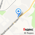 Листок на карте Берёзовского