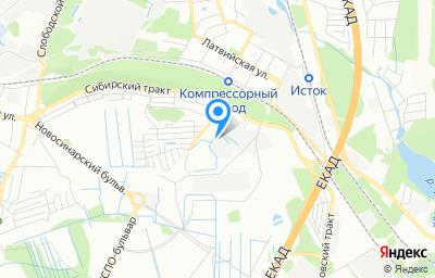 Местоположение на карте пункта техосмотра по адресу г Екатеринбург, км Сибирский тракт 14