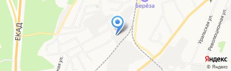 Первомайский на карте Берёзовского