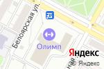 Схема проезда до компании Олимп в Екатеринбурге