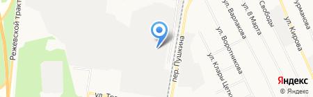 Березовский ремонтно-механический завод на карте Берёзовского