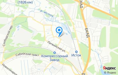 Местоположение на карте пункта техосмотра по адресу г Екатеринбург, ул Карельская, стр 52