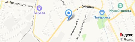 Средняя общеобразовательная школа №1 на карте Берёзовского