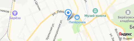 Палитра на карте Берёзовского