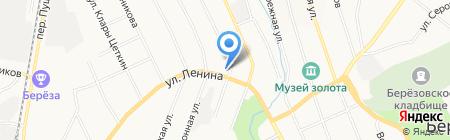 Рыболов на карте Берёзовского