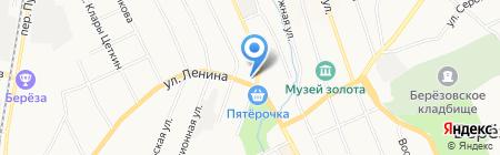 Сапожок на карте Берёзовского
