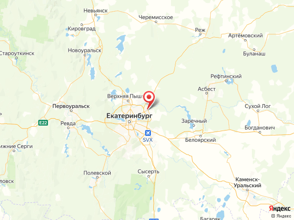 Берёзовский на карте