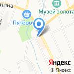Киоск по продаже хлебобулочных изделий на карте Берёзовского