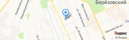 Уголовно-исполнительная инспекция на карте Берёзовского