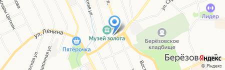 Мировые судьи Березовского района на карте Берёзовского