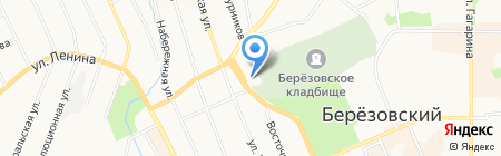 Храм Успения Пресвятой Богородицы на карте Берёзовского