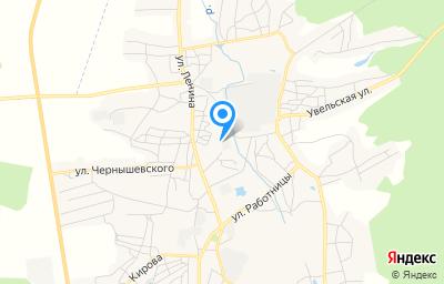 Местоположение на карте пункта техосмотра по адресу Челябинская обл, г Пласт, ул Щорса, д 1