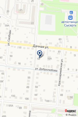 АДМИНИСТРАЦИЯ СЕЛА ЧЕРДАНЦЕВО на карте Сысерти