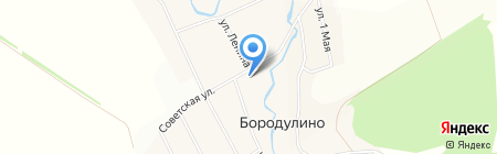 Бородулинский на карте Бородулино