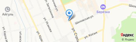 Автостоянка на ул. Строителей (г. Березовский) на карте Берёзовского