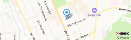 География на карте Берёзовского