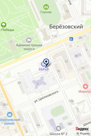 Культ Фитнеса на карте Екатеринбурга