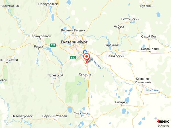 поселок Октябрьский на карте