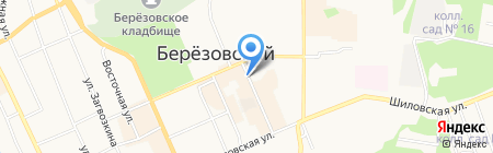 Киоск по продаже цветов на карте Берёзовского