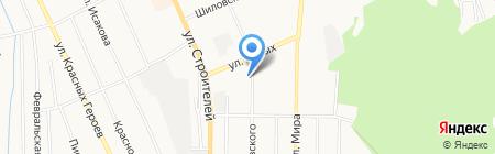 Молодежное на карте Берёзовского
