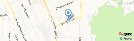Автостоянка на ул. Косых на карте Берёзовского